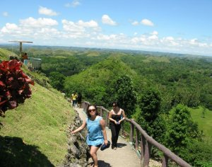 Chocolate Hills of Bohol viewing deck