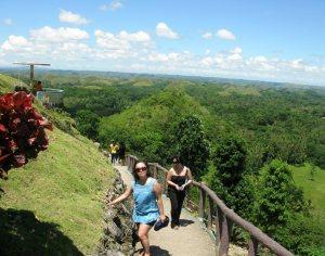 Chocolate Hills of Bohol viewing deck