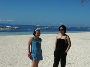 White sand of Panglao Bohol with my sister