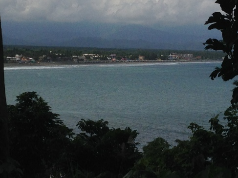 A view of Sabang Beach from Ermita Hill